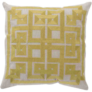 Gramercy Pillow ~ Lime & Light Gray - Cece & Me - Home and Gifts