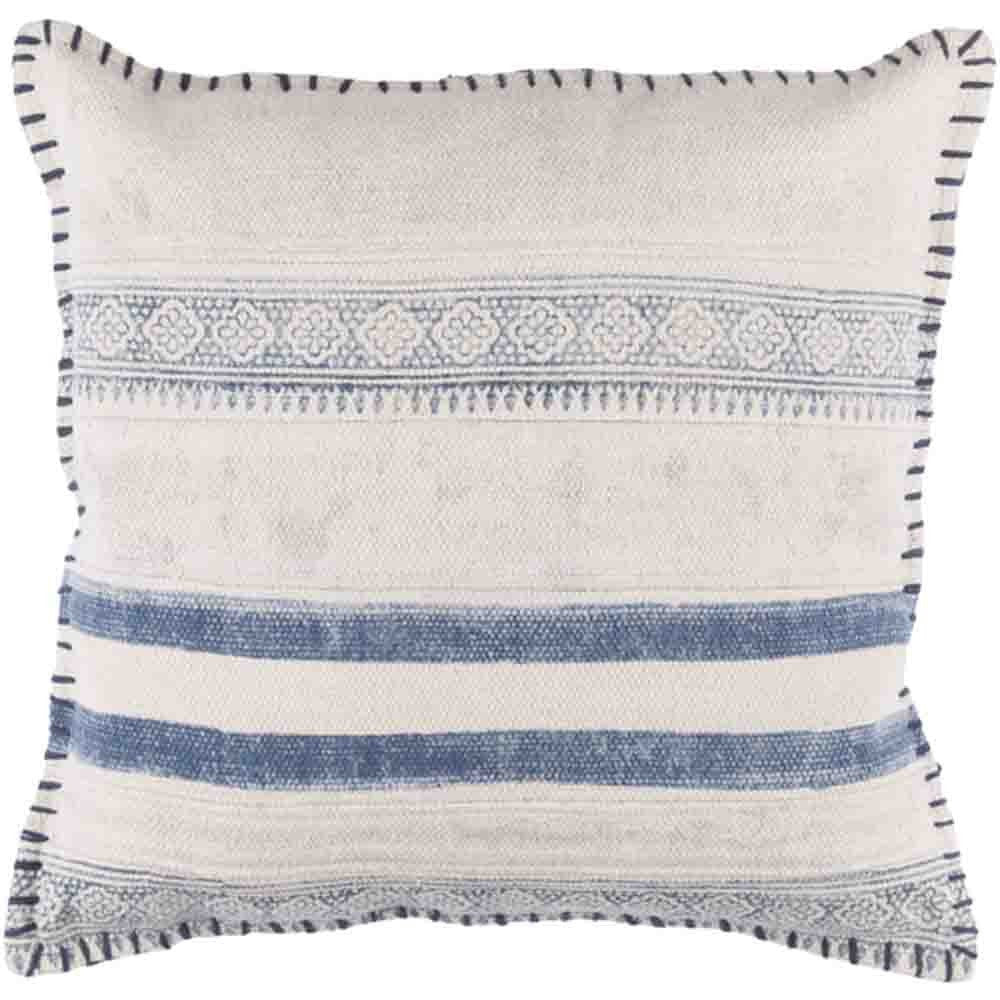 Lola Pillow~ Blue & White - Cece & Me - Home and Gifts