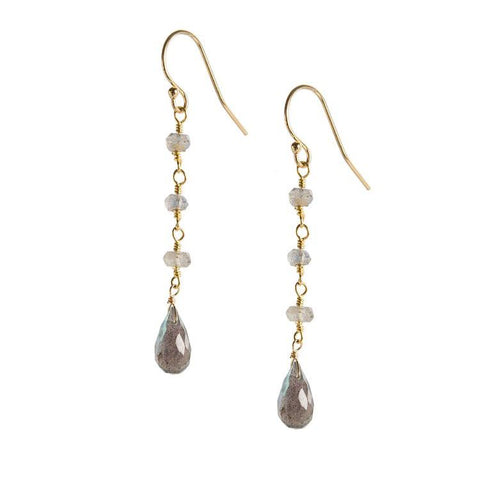 Labradorite Dangle Drop - Cece & Me - Home and Gifts