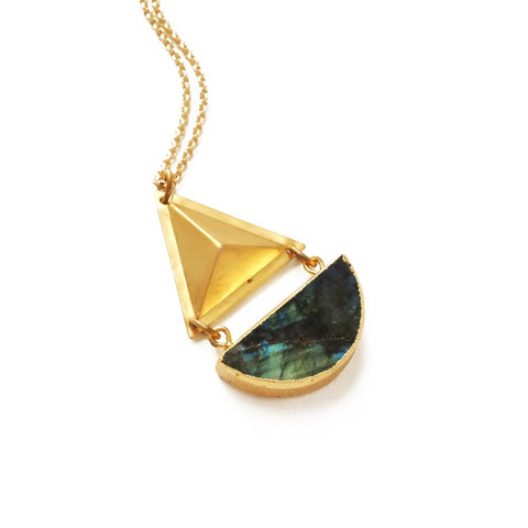 Image of Labradorite Geo Necklace - Cece & Me - Home and Gifts