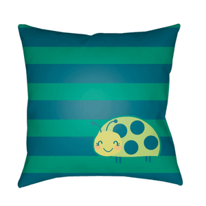 Ladybug Pillow ~ Lime - Cece & Me - Home and Gifts