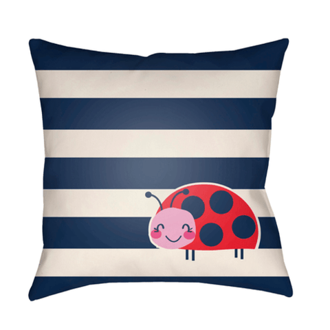 Ladybug Pillow ~ Dark Blue - Cece & Me - Home and Gifts