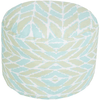 Langley Outdoor Pouf ~ Aqua/Mint