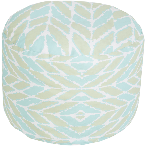 Langley Outdoor Pouf ~ Aqua/Mint - Cece & Me - Home and Gifts