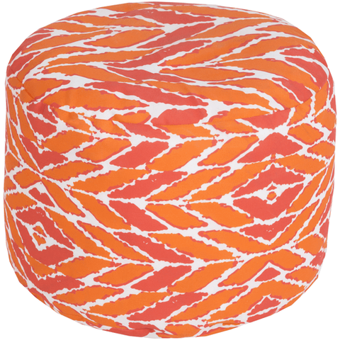Langley Outdoor Pouf ~ Coral - Cece & Me - Home and Gifts