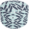 Langley Outdoor Pouf ~ Dark Blue/Aqua