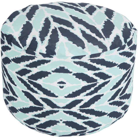Langley Outdoor Pouf ~ Dark Blue/Aqua - Cece & Me - Home and Gifts