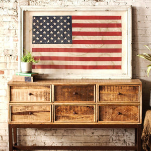 Large Framed American Flag Under Glass - Cece & Me - Home and Gifts