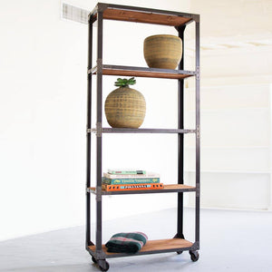 Large Iron and Recycled Wood Shelving Unit - Cece & Me - Home and Gifts