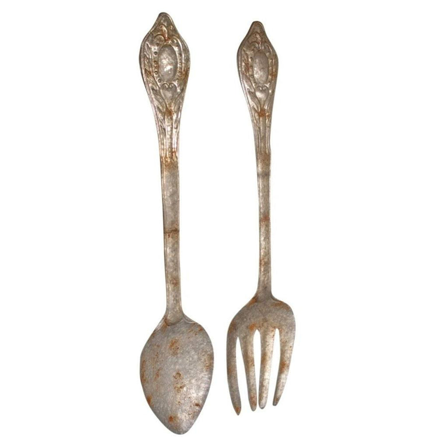 Large Metal Fork and Spoon Wall Decor (Set of 2) - Cece & Me - Home and Gifts