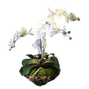 Large Luxury Faux Orchid Branchy Bowl - Cece & Me - Home and Gifts