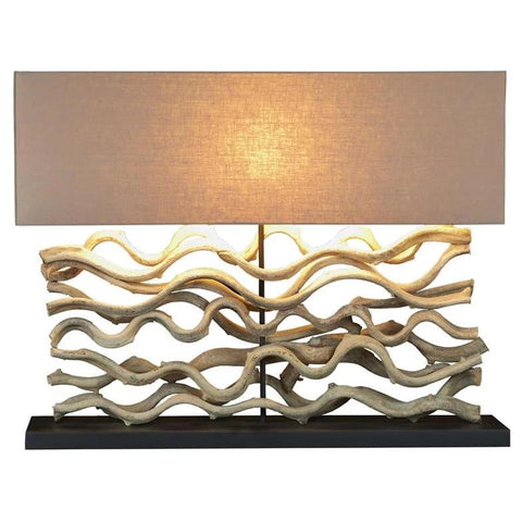 Large Sculpture Table Lamp - Cece & Me - Home and Gifts