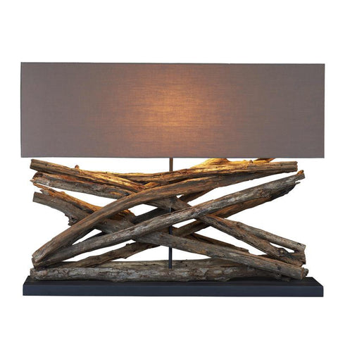 Large Teak Table Lamp - Cece & Me - Home and Gifts