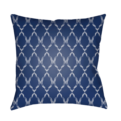 Lattice Pillow ~ Navy - Cece & Me - Home and Gifts