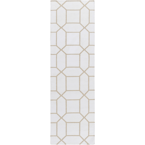 Image of Leadley Rug ~ White & Ivory - Cece & Me - Home and Gifts