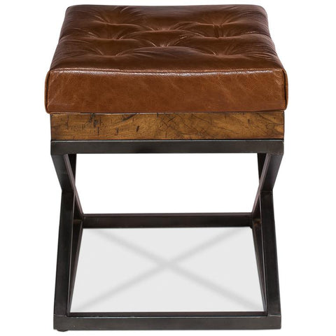 Leather Cushion Bench - Cece & Me - Home and Gifts