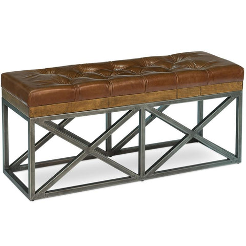 Image of Leather Cushion Double Bench - Cece & Me - Home and Gifts