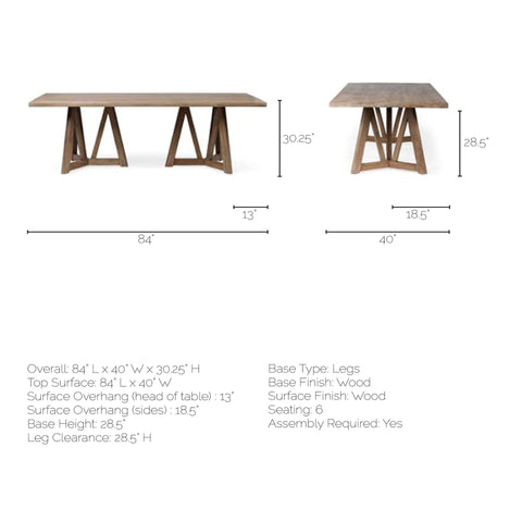Legolas Rectangular Dining Table - Cece & Me - Home and Gifts
