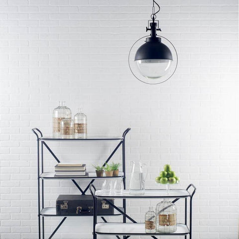 Leighton Pendant Light ~ Gun-Metal Black - Cece & Me - Home and Gifts