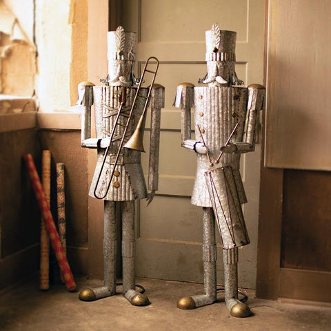 Life-Size Tin Christmas Soldiers (Set of 2) - Cece & Me - Home and Gifts