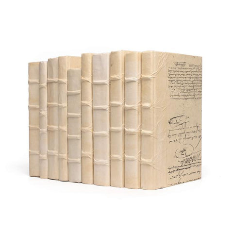 Image of Linear Foot of Solid Ivory Books -  Make Your Own Titles - Cece & Me - Home and Gifts