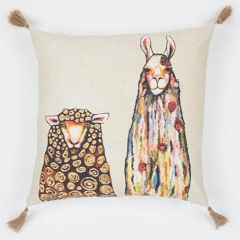 Image of Llama Loves Sheep Pillow - Cece & Me - Home and Gifts