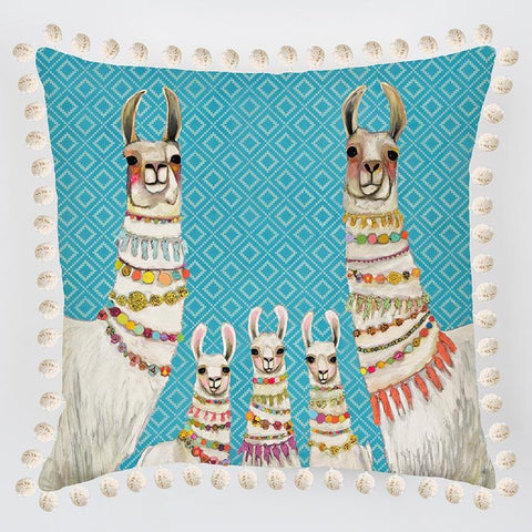 Llama Necklaces Pillow - Cece & Me - Home and Gifts