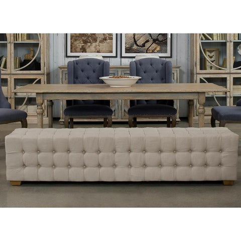 Image of Long Tufted Bench - Cece & Me - Home and Gifts