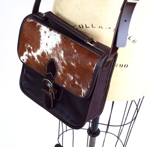 Longhorn Hide Leather Crossbody Purse