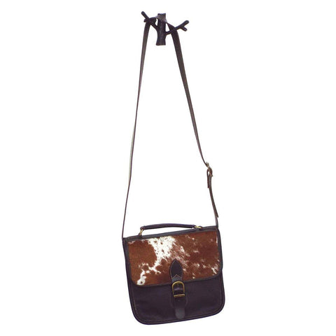 Longhorn Hide Leather Crossbody Purse - Cece & Me - Home and Gifts
