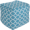 Lou Outdoor Pouf ~ Aqua