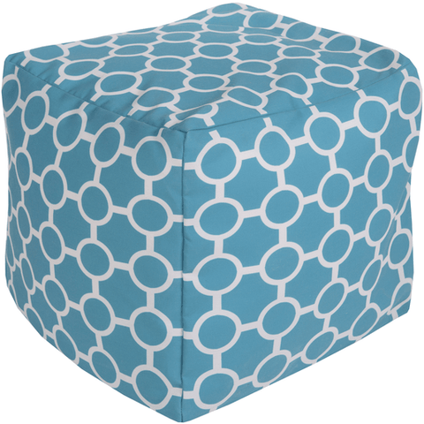 Lou Outdoor Pouf ~ Aqua - Cece & Me - Home and Gifts