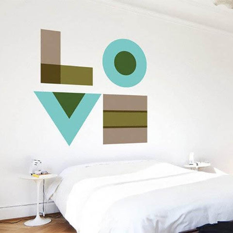 Image of Love Wall Decal Cut-Outs ~ Turquoise - Cece & Me - Home and Gifts