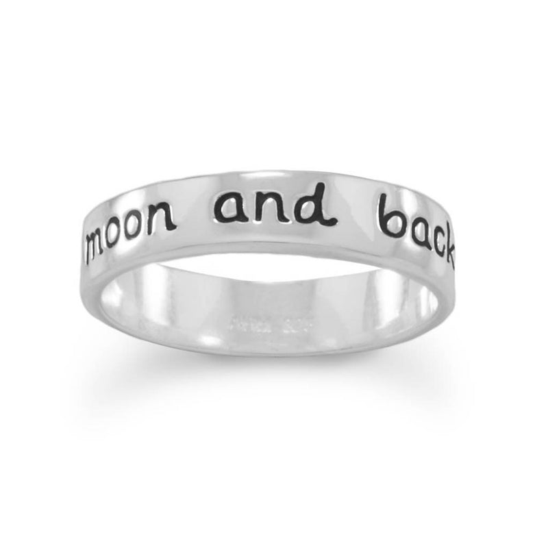 """Love you to the moon and back"" Ring - Cece & Me - Home and Gifts"