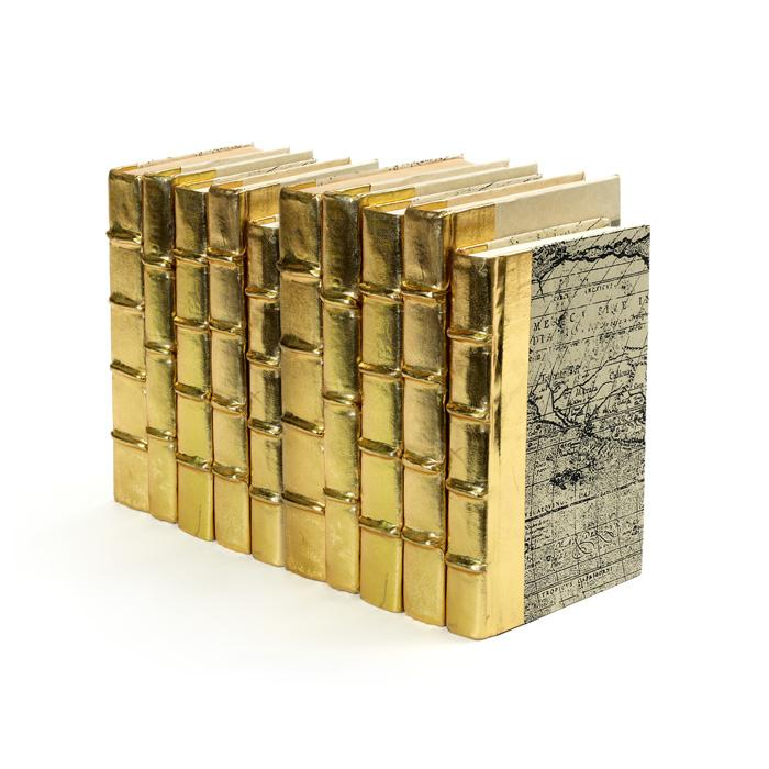 Linear Foot of Metallic Gold Books