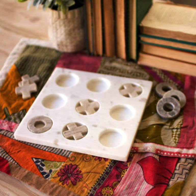 Marble Tick Tac Toe - Cece & Me - Home and Gifts