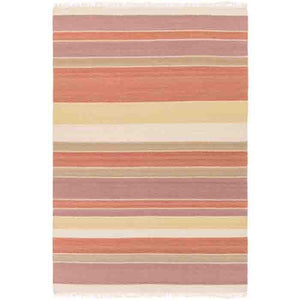 Miguel Wool Rug ~ Burt Orange/Mauve - Cece & Me - Home and Gifts