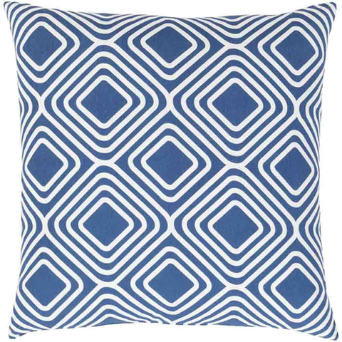 Image of Miranda Pillow ~ Dark Blue & White - Cece & Me - Home and Gifts
