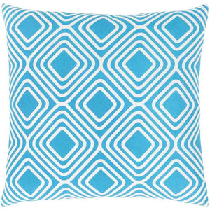 Miranda Pillow ~ Bright Blue - Cece & Me - Home and Gifts