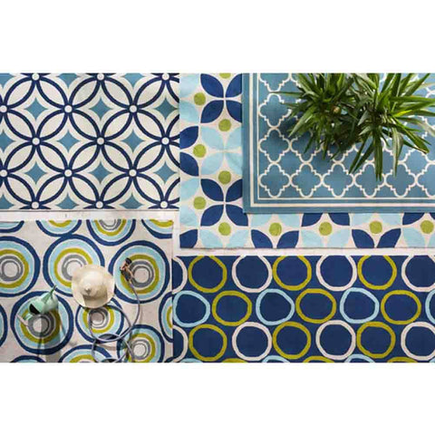 Image of Miranda Rug ~ Navy & Aqua - Cece & Me - Home and Gifts