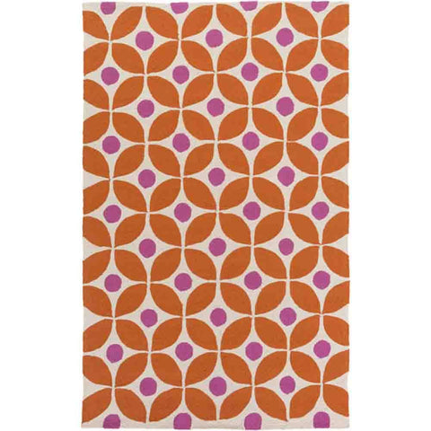 Image of Miranda Rug ~ Terra Cotta & Hot Pink - Cece & Me - Home and Gifts
