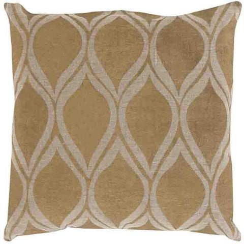 Image of Metallic Stamped Pillow ~ Gold/Tan - Cece & Me - Home and Gifts