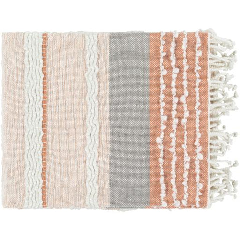 Manteo Throw ~ Coral - Cece & Me - Home and Gifts