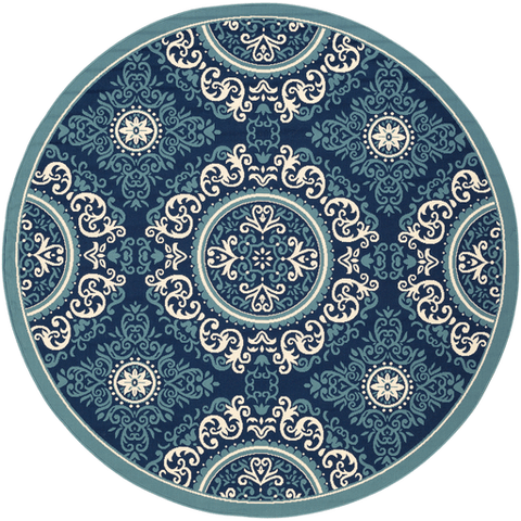 Image of Marina Rug ~ Navy/Denim/Khaki - Cece & Me - Home and Gifts