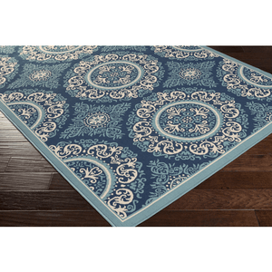 Marina Rug ~ Navy/Denim/Khaki - Cece & Me - Home and Gifts