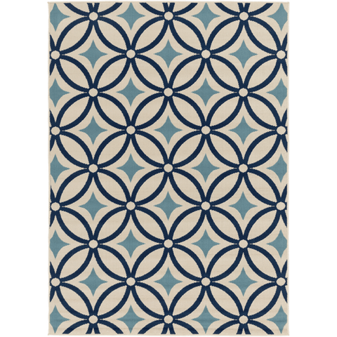 Image of Mattheis Rug ~ Navy/Denim/Khaki - Cece & Me - Home and Gifts