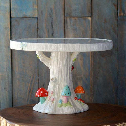 Merry Mushroom Cake Plate - Cece & Me - Home and Gifts