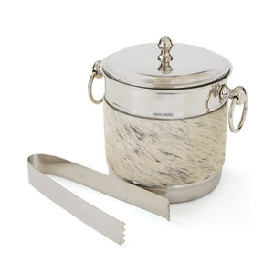 Metal & Hide Ice/Wine Bucket - Cece & Me - Home and Gifts