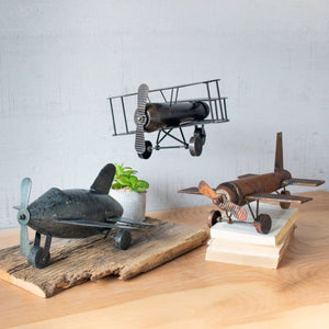 Metal Airplanes (Set of 3) - Cece & Me - Home and Gifts