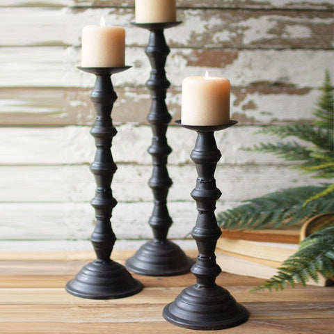 Metal Candle Towers (Set of 3) - Cece & Me - Home and Gifts